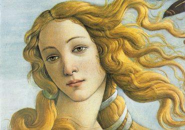 Sandro Botticelli, La nascita di Venere (partic.), 1482-1485 circa, Galleria degli Uffizi, Fi