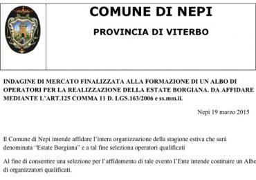 Comune di Nepi | Estate Borgiana 2015