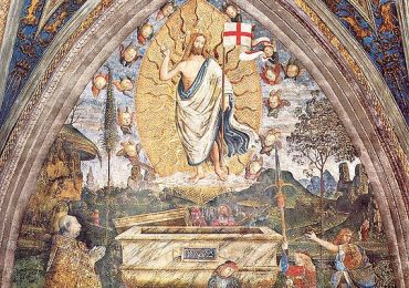 Pinturicchio: Alessandro VI e, presumibilmente, i figli Cesare, Juan e Jofre